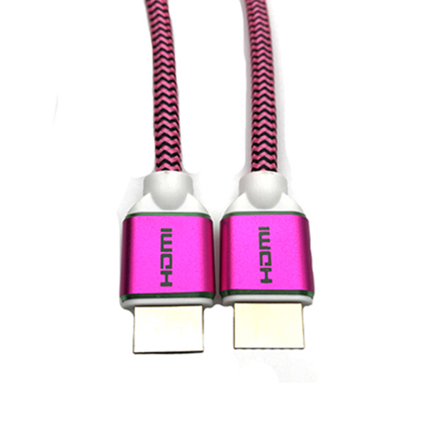 HDMI A MALE TO HDMI A MALE 铝壳式玫红色